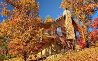 Photo for GORGEOUS MOUNTAIN VIEWS/PRIVATE CABIN WITH WOOD BURNING FIREPLACE