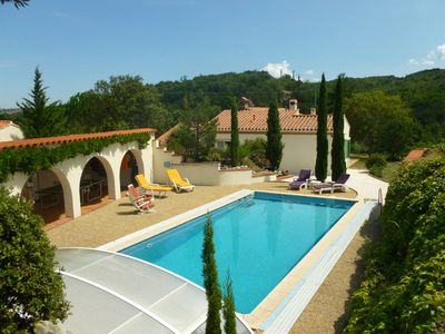 Photo for Breathtaking views to sea and mountain, private pool and garden, very peaceful!