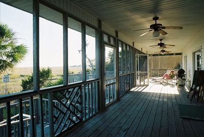 The 57 ft. screened porch