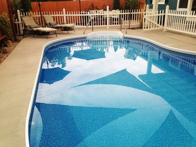 Private and heated pool