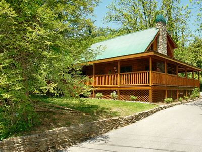 Photo for 3 Bedroom Pigeon Forge Cabin Rental with Hot Tub, Rockers and Gas Grill