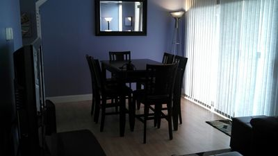 Hi-top dining room table seats 6