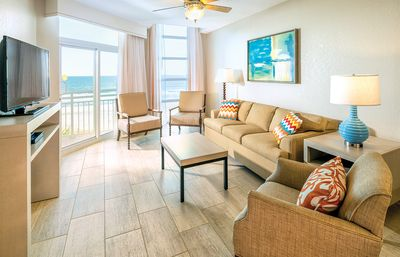 Photo for JULY 5-8 ONLY! 3 BR 2 Bath OCEAN FRONT Condo with Balcony Living Dining Kitchen