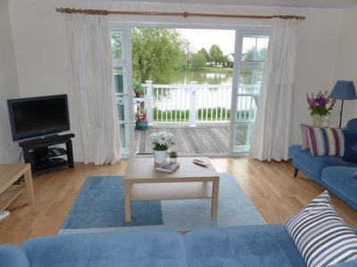 Photo for New beautiful pet friendly lakeside lodge and the perfect Cotswold retreat