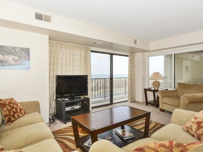 Photo for FREE DAILY ACTIVITIES!!! LINENS INCLUDED*! OCEANFRONT BUILDING!!!  FREE WIFI!!!  This spacious 2-bedroom, 2-bathroom unit has remodeled bathrooms and living room and master bedroom updates