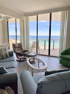 Amazing Ocean View from the living room, dining and kitchen.