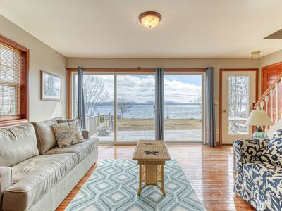 Photo for Oceanfront home w/ gorgeous views, deck & pebble beach - 2 dogs OK!