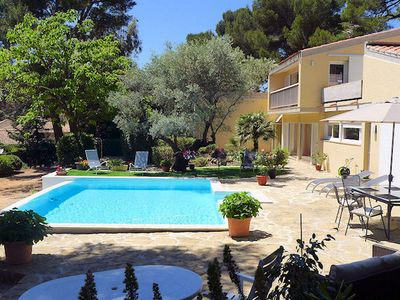 Photo for Villa with heated pool and large garden in the peace close to beaches