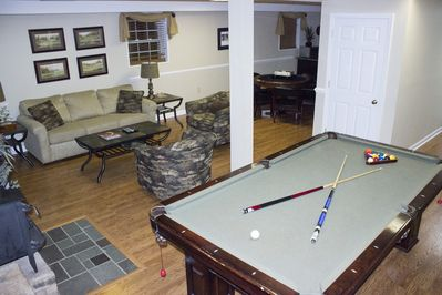 Downstairs den and pool table
