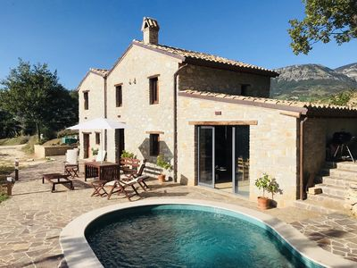 Photo for Rustic stone house with a modern touch