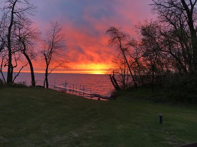 Photo for Lakefront w/dock on two acres. Beautiful sunsets, space for RV/Trailer/Boat(s)