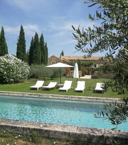 Photo for Large farmhouse with swimming pool near Uzès