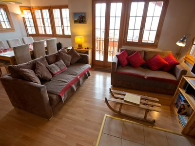 Photo for PICTURESQUE FAMILY CHALET, CLOSE TO TELECABINE, BREATHTAKING VIEWS!