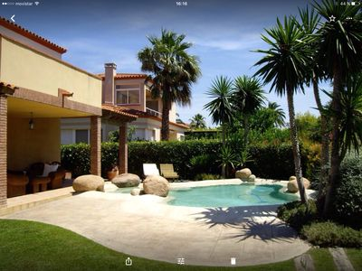 Photo for Villa with private pool with jacuzzi in Golf Club
