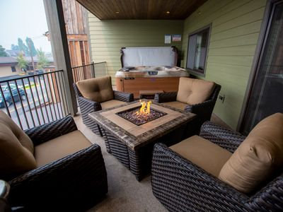 Photo for 2017 New Build in the heart of Downtown Whitefish! 2BR 2BA w/ Private Hot Tub!!