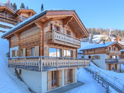 Photo for Chalet Petit Sapin in La Tzoumaz, Ski-in Ski-Out - 10 persons, 5 bedrooms
