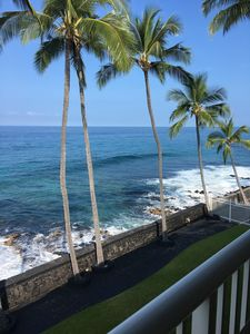 Photo for Kona Magic Sands Oceanfront Studio with COOL A/C - Recently remodeled