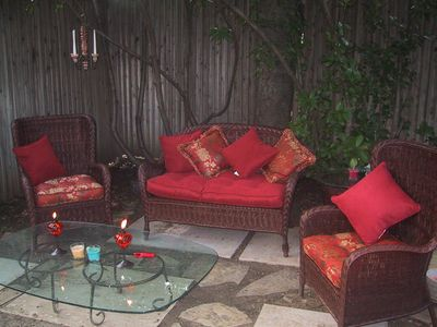 Cabin fever? Enjoy our expansive garden lounging areas.