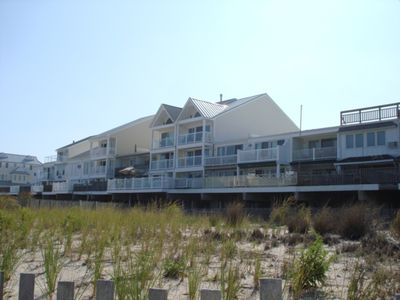 Ocean Front, 3 story townhouse w/multiple decks and porches! Walk off the porch and onto the beach!
