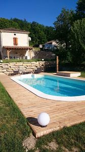Photo for quercynoise stone house with private pool