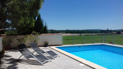 Photo for Countryside Gite for 2.  Private Pool. Short Walk into Monflanquin