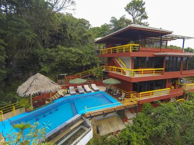 Four floors of privacy in the jungle with ocean views.