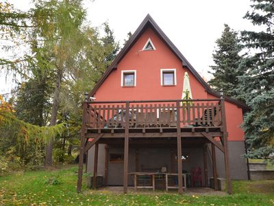 Photo for Detached holiday home with large terrace, table tennis in the Erzgebirge Mountains