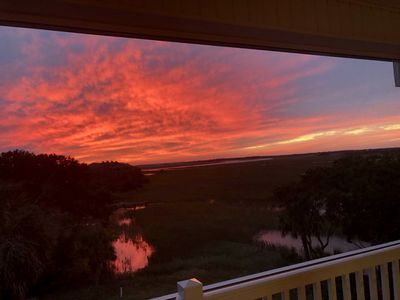The sunsets can be truly amazing from the screened porch!