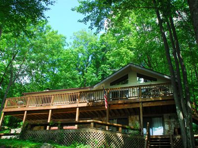 Photo for Beautiful 4 Bedroom Lakefront home with hot tub and private dock!
