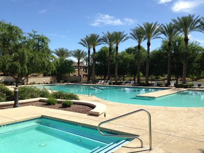 Photo for SE Phoenix Luxury! 5 Bed home w/ 120' MOVIE THEATER + 3 POOLS + HOT TUB
