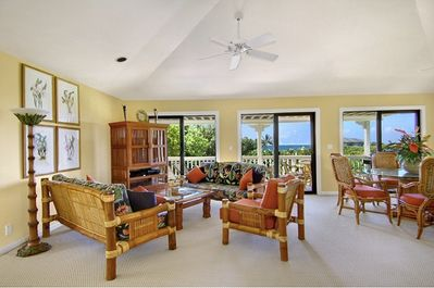 Ocean surrounded living room