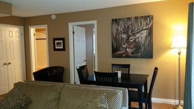 Photo for Hillside One Bedroom Condo with Full Kitchen, 2 Creekside Decks, Wifi, Parking
