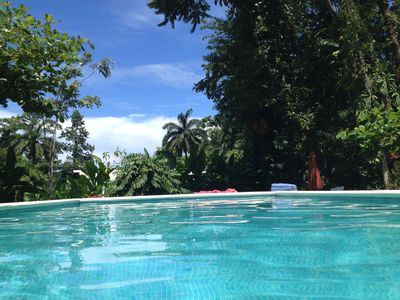 Photo for 300 m from the beach, ocean view luxury property with pool in the jungle.