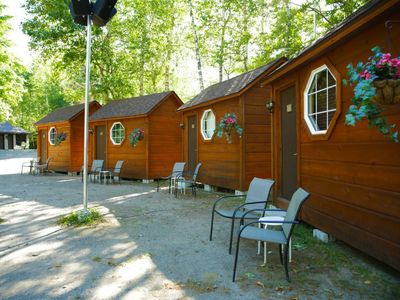 Photo for Quaint Cabin on an Adults Only Resort - Hot tub, Canoe on Private Lake