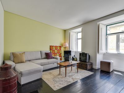 Photo for Colourful Apartment in Central Lisbon