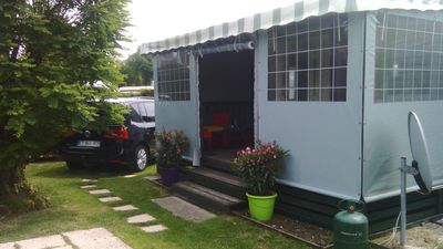 Photo for MH Charmettes, 40 m2, not overlooked, air-conditioned, covered terrace