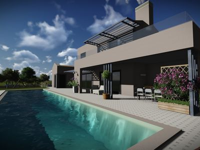 Photo for Modern Villa Infinity, in Istria, with a Pool