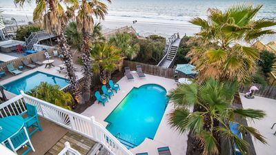 Photo for Oceanfront, Private Heated Pool,Steps to Beach,Booking 2020, Beautiful Decor.