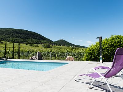 Photo for Gite with heated pool on the wine trail and close to EGUISHEIM