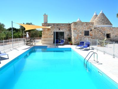 Photo for # Modern 3 Bedroom Trulli all with ensuite, Air conditioning and heated Pool