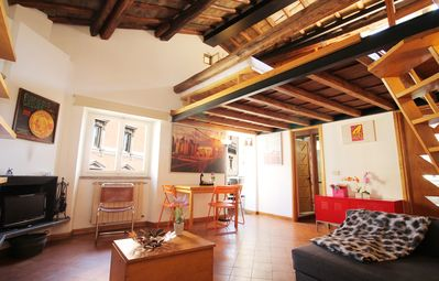Photo for Trastevere, charming penthouse in Trilussa square - Apartment for 6 people in Roma