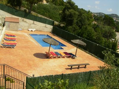 Swimmg-pool area. Fenced and security access for children.