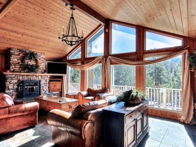 Photo for Big Bear Lake Lodge with Hot Tub,  Panoramic Lake Views and Close to Resorts!