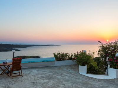 Photo for Kalathas Sunset Villa - 3BR Sea View