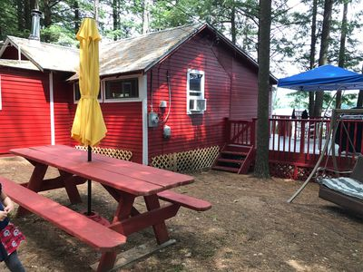 Photo for Rustic Cottage On Brettun's Pond In Western Maine - Only 35 Miles From Turnpike!
