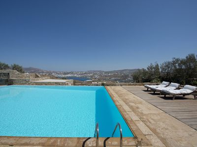 Photo for Villa Ale, in Tourlos area, in Mykonos, with swimming pool, sea view, 12 sleeps