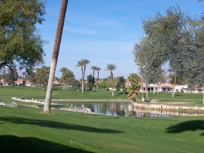 Photo for Dec Special $2800. 2bd-2bath condo on 7th tee Palm Desert Resort Country Club