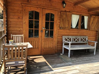 Photo for Panorama Wood Cabin withe private Garden