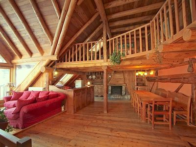 Photo for Chalet 200m2 of the 18th century with sauna, fireplace and Jacuzzi.