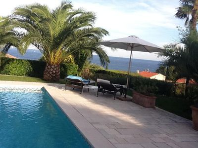 Photo for Charming villa: wonderful sea view, beaches and La Napoule reachable on foot